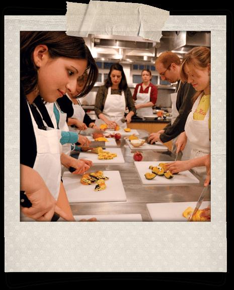 Clase de taller de cocina